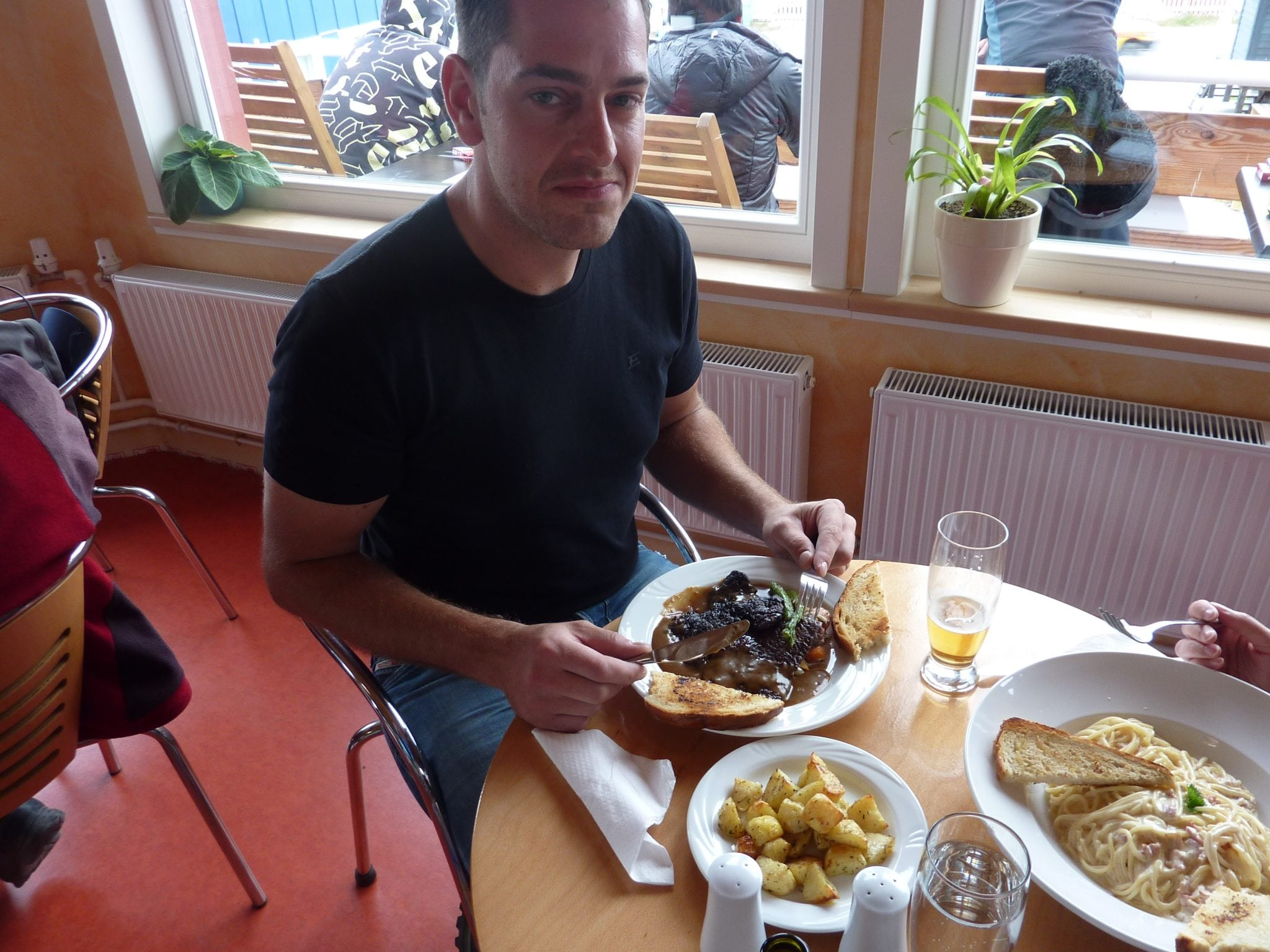 Bowhead and minke whale grill