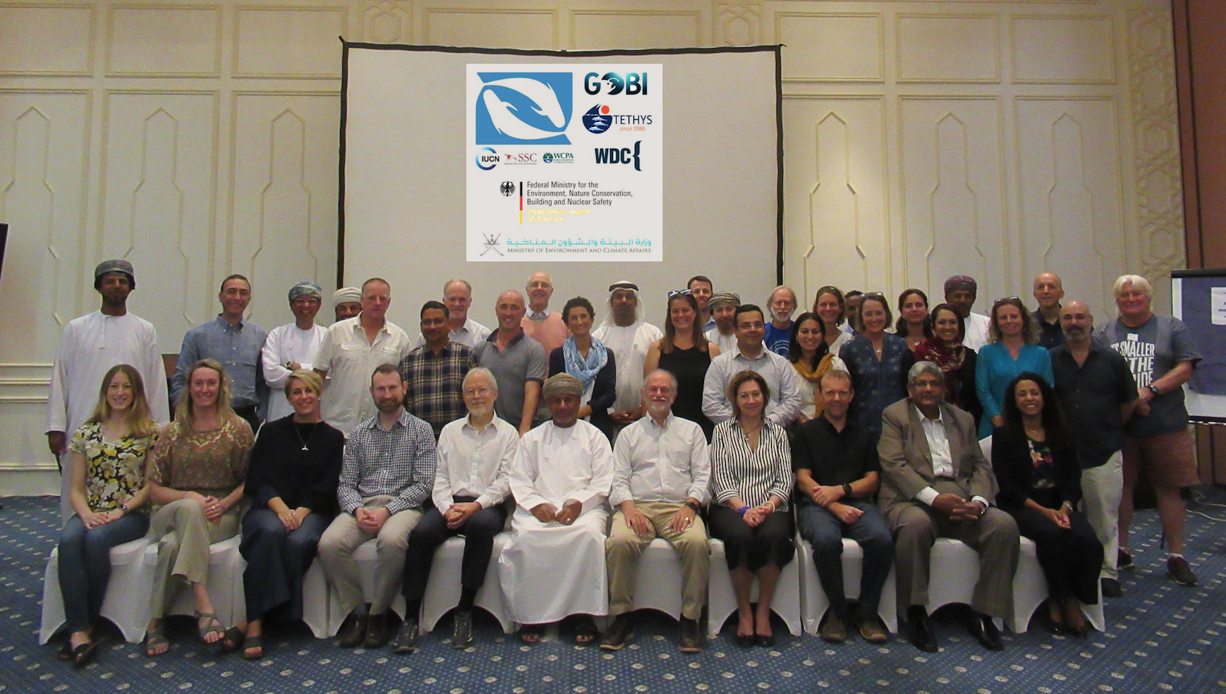 Attendees at the Indian Ocean and Arabian Seas IMMA Workshop