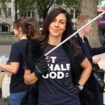Julia Bradbury at NotWhaleFood urban beach clean