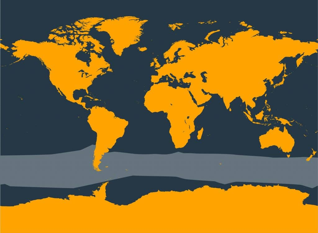 Hourglass dolphin distribution map