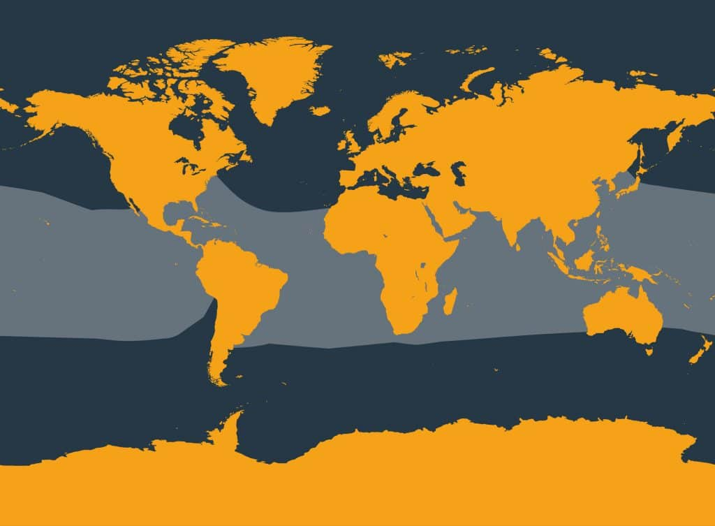 Pantropical spotted dolphin distribution map