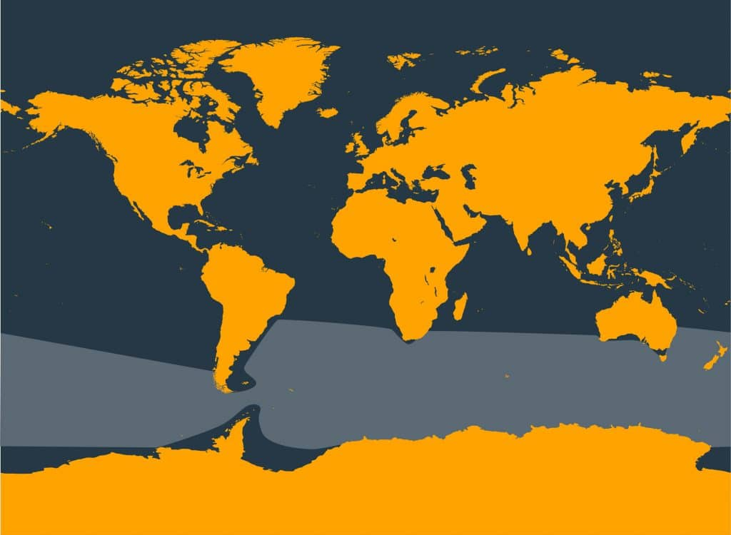 Arnoux's beaked whale distribution map