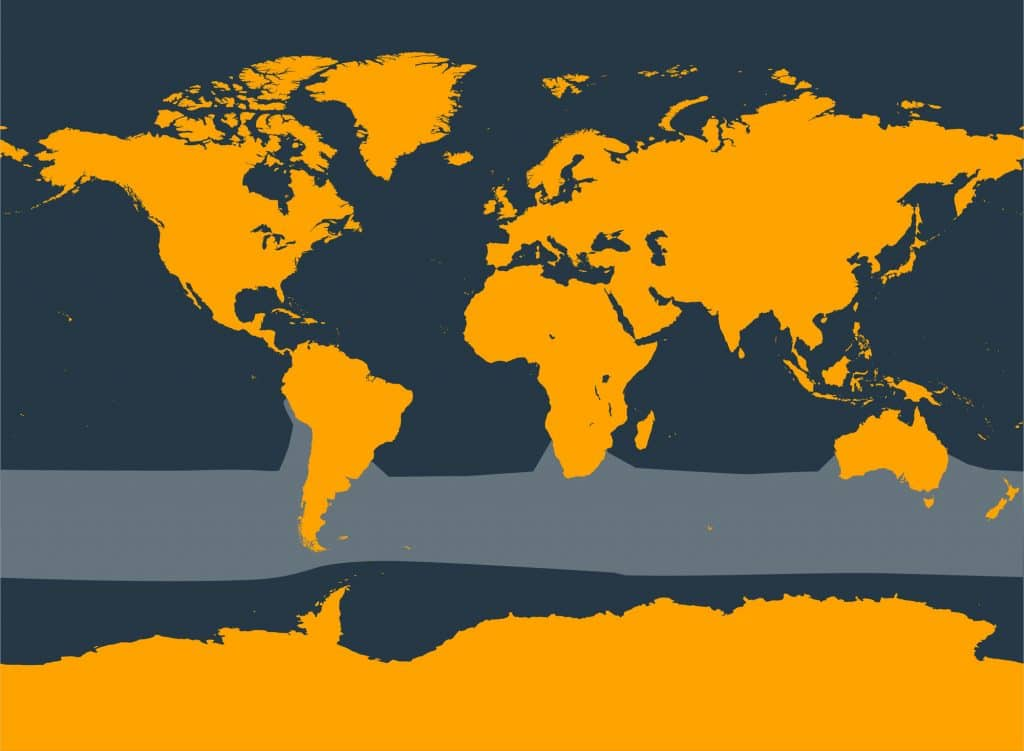 Southern right whale dolphin distribution map