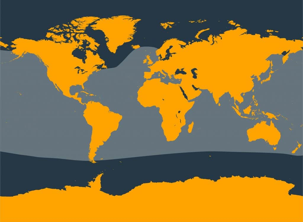 Cuvier's beaked whale distribution map