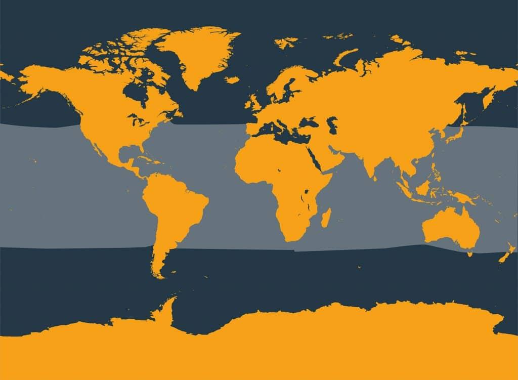 Dwarf sperm whale distribution map