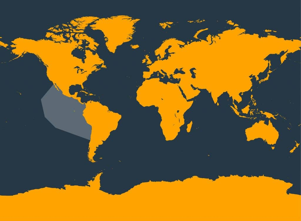 Pygmy beaked whale distribution map