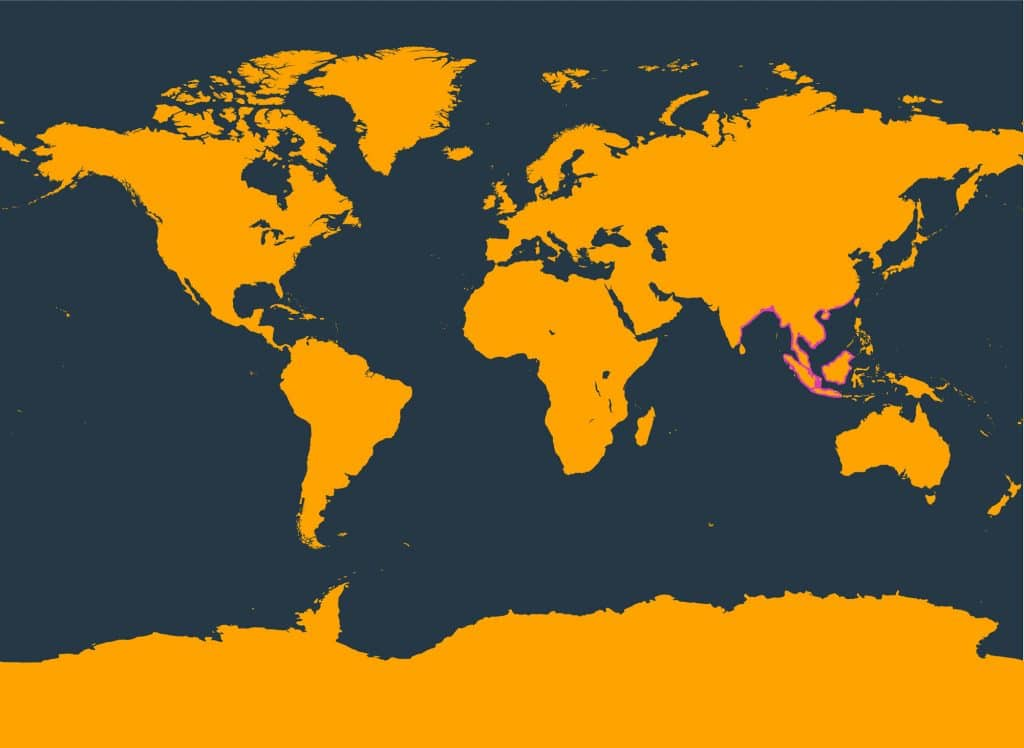 Indo-Pacific humpback dolphin distribution map